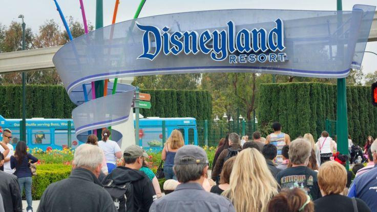 Disneyland Entrance Stock