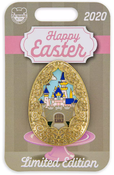 Sleeping Beauty Castle Easter Egg Pin